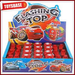 Flashing top toy