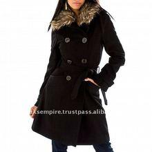 black long winter wool coat