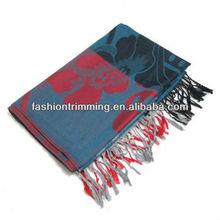 New arrival custom women big shawl pattern Mir cashmere scarf