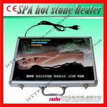 professional 28 pcs electric spa hot stone massage heater