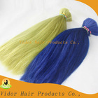 2013 Factory remi blue red green colored human hair
