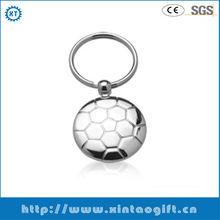 2013 best selling custom football metal keychain supplier