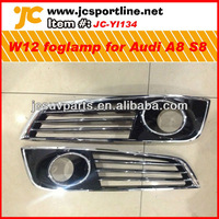 For 2013 Audi A8 S8 4E W12 style ABS chrome fog lamp grill grid cover