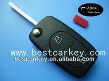 2+1 buttons flip key case 2032 battery for Audi key case Audi car key case