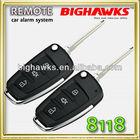 toyota remote key case BIGHAWKS CA703-8118 flip key remote car alarm security system