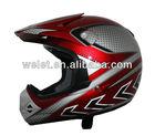 Motocross helmet pc helmet plastic face shield with safety helmet