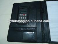 a4 pu leather portfolio folder with calculator