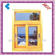 single glass PVC sliding window with the handle