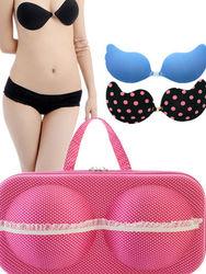 lady's bra and panty case,plastic travel bra bag,underwear bag
