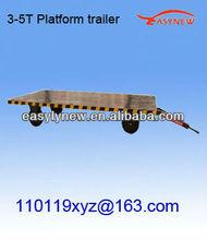 3-5T high efficient platform trailer for small car