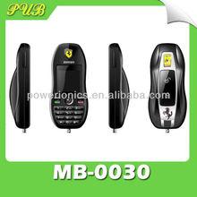 Mini Car Key Mobile Phone with Colorful Lights FM Radio Buletooth MP3 MP4