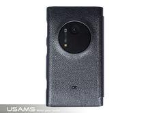 USAMS Black Starry Sky Series Leather Flip Case For Nokia Lumia 1020