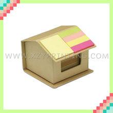 House shaped designed cardboard printed memo box for memo pad
