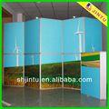 plegable de hierro forjado pantalla para la publicidad con la impresión