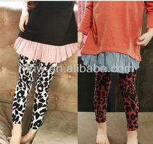 Japan and South Korea Women Children pants Uptown Girl Leopard print Leggings thin section