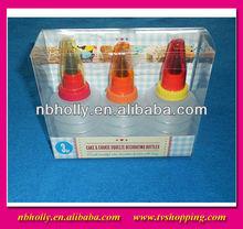 Tv537-007a 3 unids la torta de la galleta del apretón de la decoración de pasteles botellas