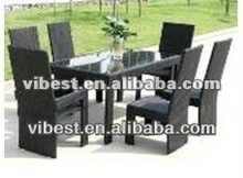 6 pcs brown color chair and table