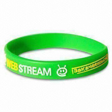 Promotional Rubber/Silicone UV Bracelet/Wristband with Message, Customized Printed Logos Welcome