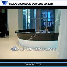 OEM size customiz design quartz stone bar table base with solid surface