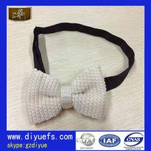 2013 Fashion Beige Knit Bow Tie Boxes