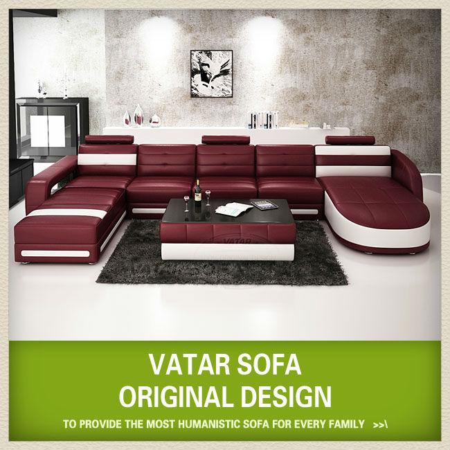 Extra grandi divani in pelle, di lusso di alta qualità usa d3321 divani