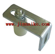 adjustable nylon roller L shape bracket -Zinc manufacturer