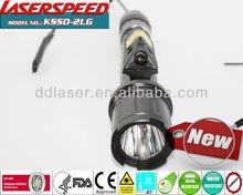 GUN LIGHT+LASER/long gun picatinny rail mounted green laser sight with500Lum strobe light combo