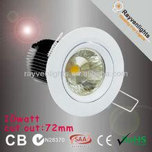 round warm white mini size led downlight ip 50