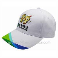 Baseball hat with custom removable logo