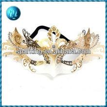 Golden halloween plastic party mask