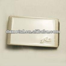 white enamal clip copper belt buckle