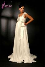 PG-004 Short Sleeve Floor Length Pictures Of Wedding Dresses For Pregnant Women