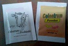 El calostro/probióticos en polvo