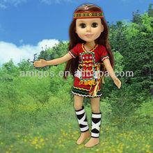 """18"""" Taiwan Ami tribe princess doll"""