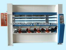 sawdust hot pressing machine for plywood, pvc,MDF lamination on doors