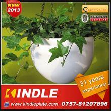 New Rattan flower pen pot with a metal basin