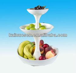 Three layers decorative ceramic fruit dish, ceramic fruit plate