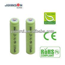 rechargeable aaa nimh 1.2v 1100mAh high capacity battery