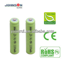 rechargeable aaa nimh 1.2v 1100mAh battery cell