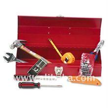 16-Piece Light-Duty Office Tool Kit in 16 Metal Box, Black