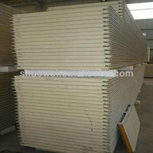 Polyurethane foam exterior sandwich wall panel ISO9001