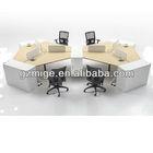 Cream and White 6 Cluster Office Desk