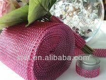 diamond mesh decorate wedding cake table