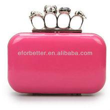 2013 Handbags for women/Box clutch/Skull clutch box evening bag FB-EB004