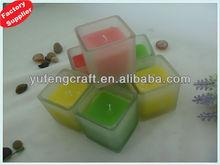 cylinder glass vase & candle holder