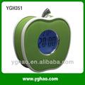 ygh351 china levou noite luz de maneira antiquado relógios de alarme