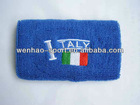 2013 New arrival Terry Cotton wristband country logo
