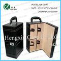 De cuero de vino de regalo de los casos, cajas de botellas