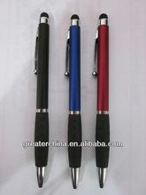 stylus pen , 2-color imprint, plastic Version ,silver accents