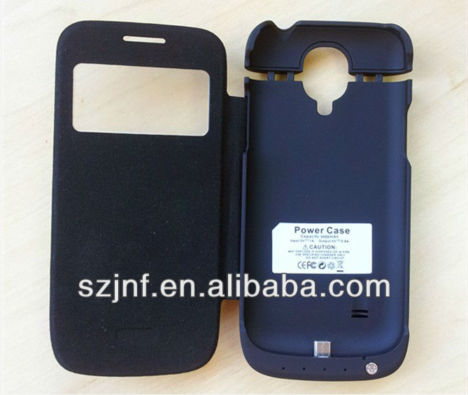 For galaxy S4 mini battery case with smart cover